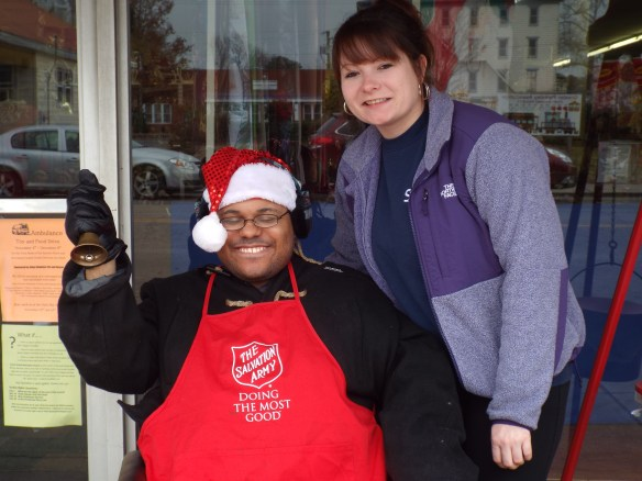 Terrance and Brittney kicking off bell ringing season in Parksley.  Good job guys!