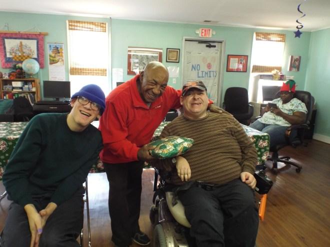 Brandon, Elton and Matthew, Christmas party 2014