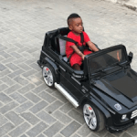 Tiwa Savage's son pictured riding his Mimi G-Wagon