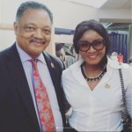 Omotola gushes about speaking on the same platform with Jesse Jackson at Crans Montana Forum