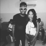 Olajumoke working with Clarence Peters, Patoranking and Toofan on a new project (Photos)