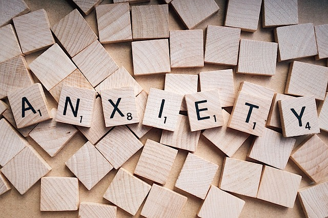 Scrabble tiles spell anxiety to show how even Christians can get anxious if they don't understand the providence of God.