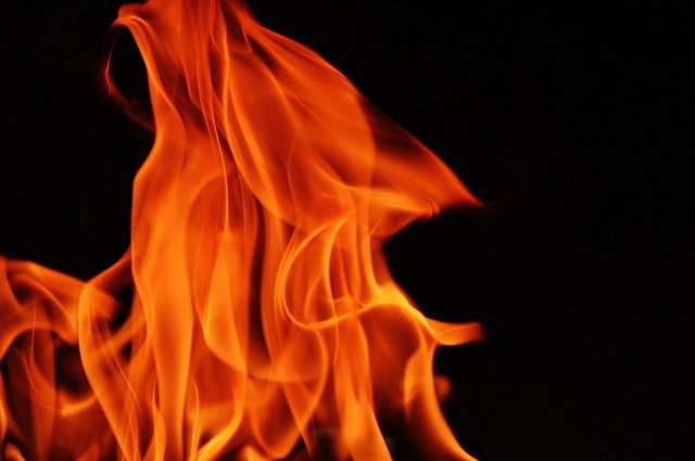 """This is fire to represent the burning bush where God told Moses His name: """"I Am That I Am."""""""