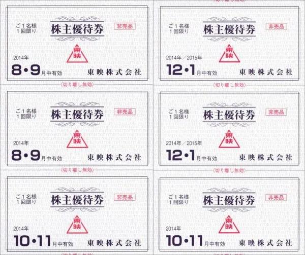 東映の株主優待券-中身