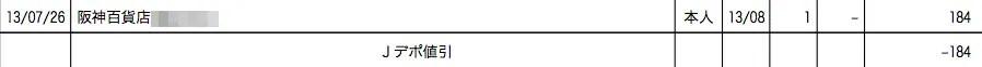 2013年8月のJデポ割引