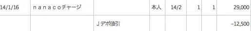 漢方スタイルクラブカード 2014年2月の請求分がJデポで割引されている