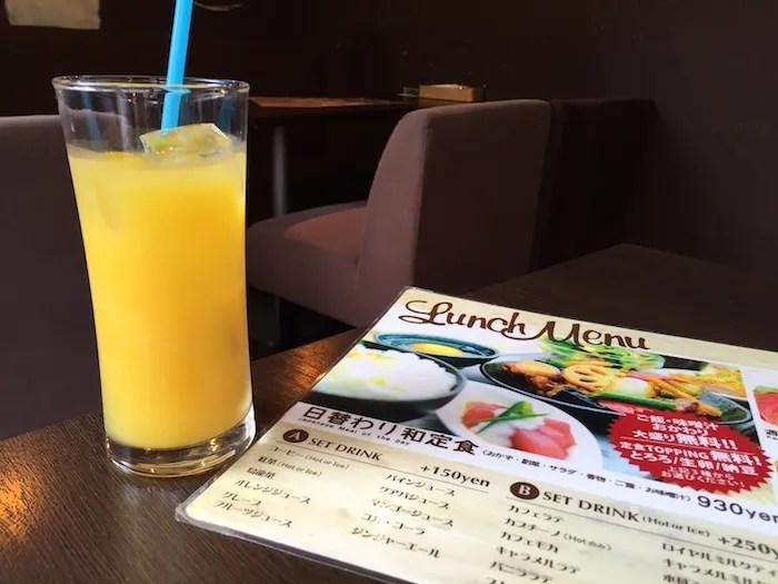 kawara CAFE&DINING 新橋店のセットドリンクの例