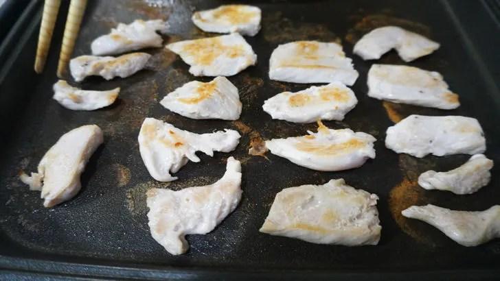 コストコのさくらどりむね肉(ホットプレートで焼いた状態)