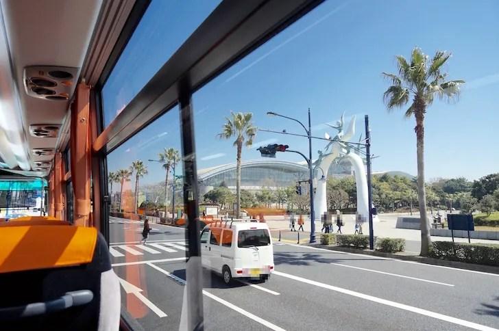 羽田空港から東京ディズニーリゾートまでの直通バス(社内風景)