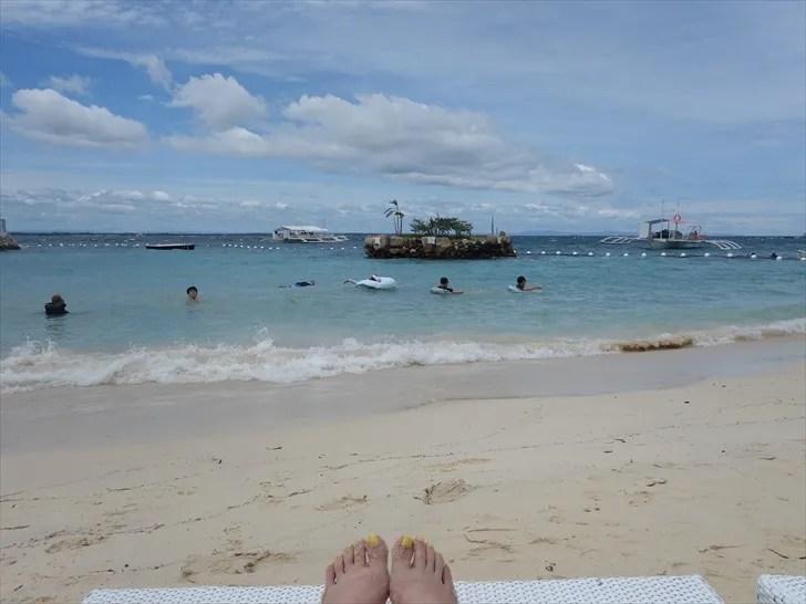 マクタン島のプライベートビーチ