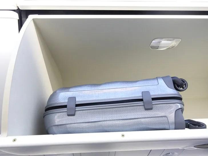 コスモライトのスーツケースを機内持ち込み