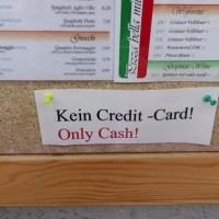 オーストリアでクレジットカードが使えないお店