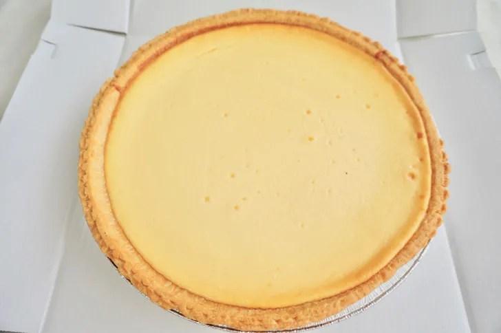 コストコのトリプルチーズタルト(ケーキの表面)