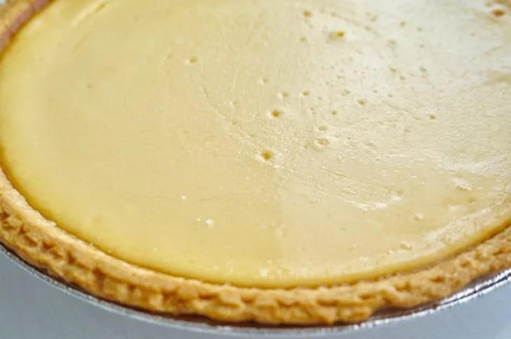 コストコのトリプルチーズタルト(ケーキの表面2)