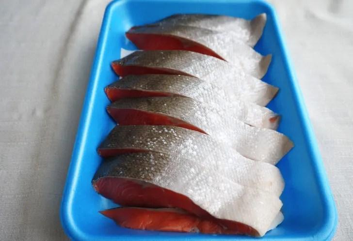 コストコの天然紅鮭定塩切身・甘口(中身)