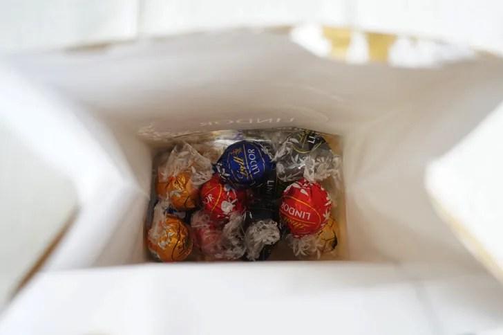 コストコのリンツ リンドール アソートチョコレート(パッケージの中身)