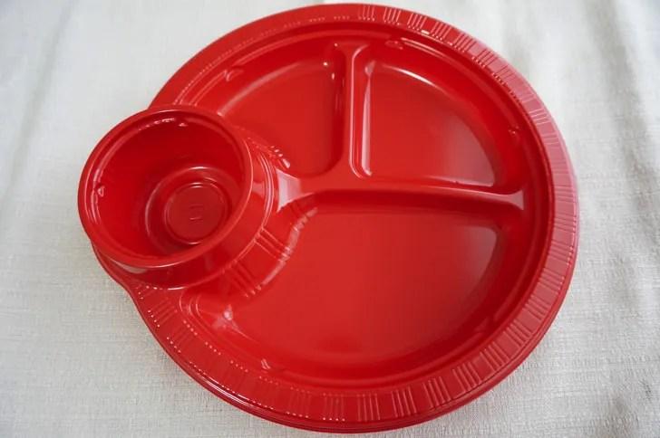コストコのカップホルダー付きプレート(プレートの表面)