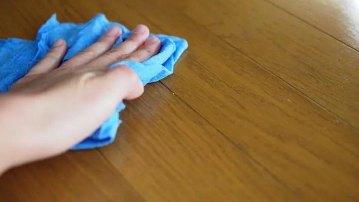 コストコのスコット ショップタオル(掃除に使っている様子)