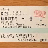 京都市内発のきっぷ