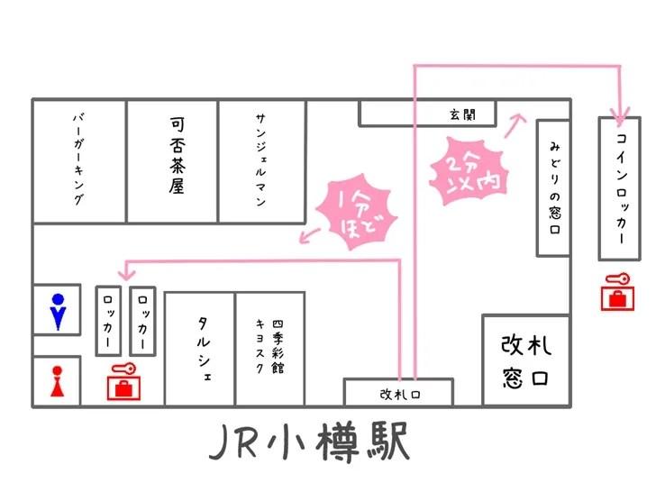 小樽駅コインロッカー地図