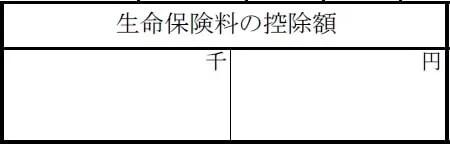 【源泉徴収票の見方】生命保険料の控除額