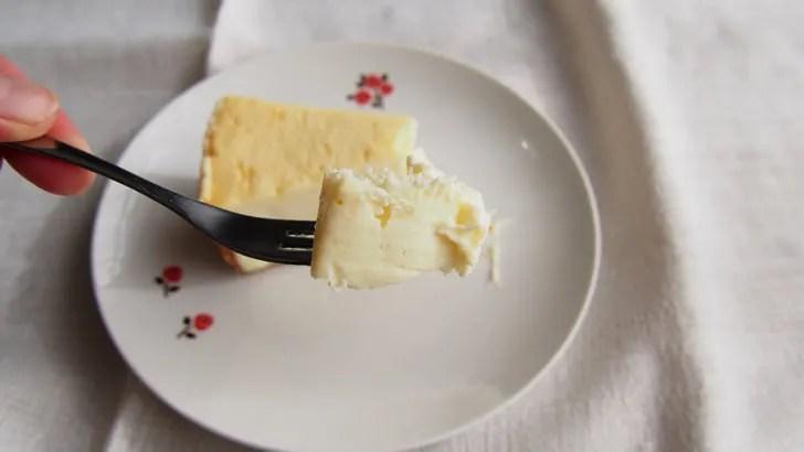 コストコのチーズケーキファクトリー オリジナルチーズケーキ(解凍後の中の状態)