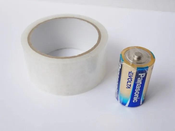 電池の絶縁処理写真