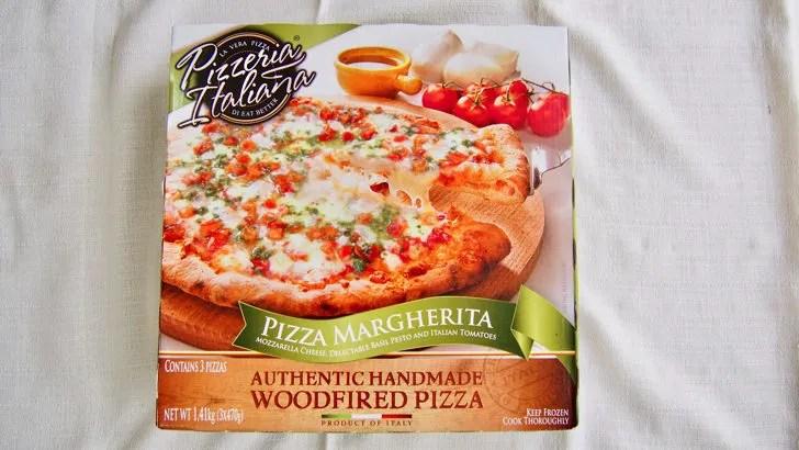 コストコのピッツアイタリアーナ マルゲリータピザ(パッケージ)