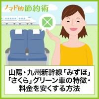 山陽・九州新幹線「みずほ」「さくら」グリーン車の特徴