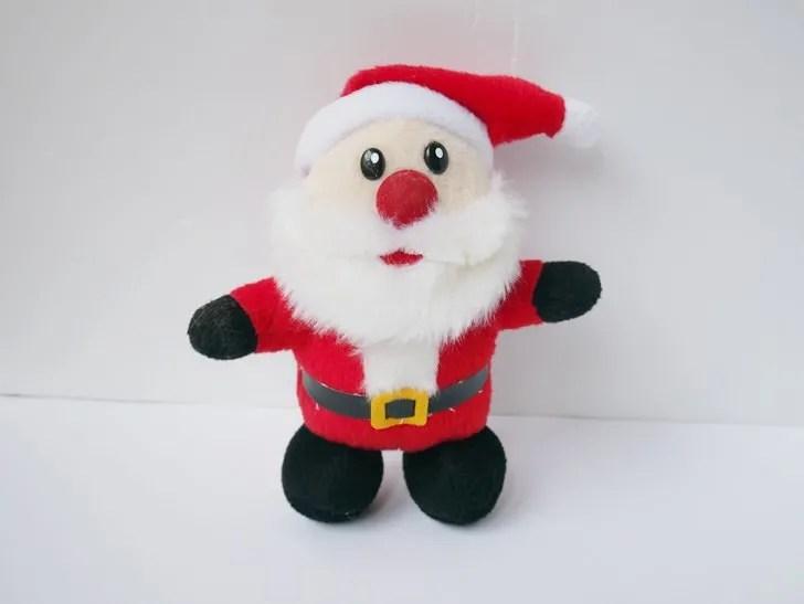 サンタクロースの人形写真