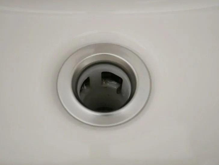 洗面台排水口そうじ手順写真