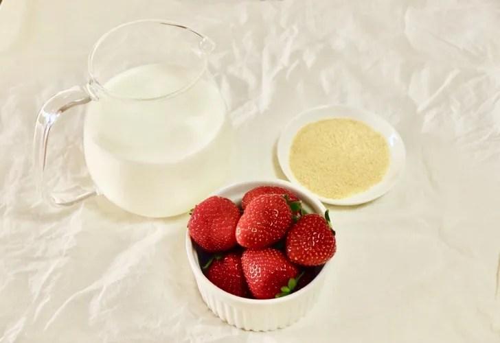いちごミルクの作り方