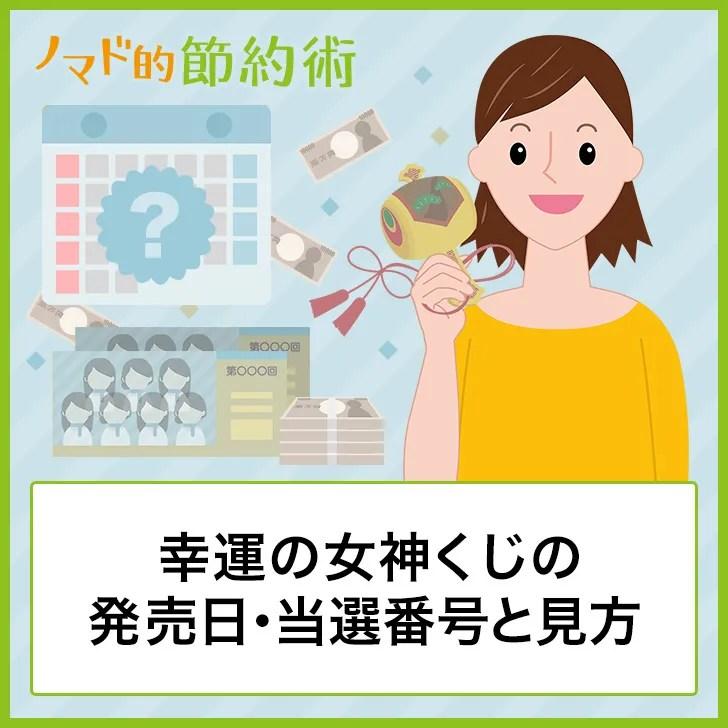 幸運の女神くじの発売日・当選番号と見方