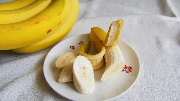コストコのデルモンテ バナナ(切り分けてお皿に盛った状態)