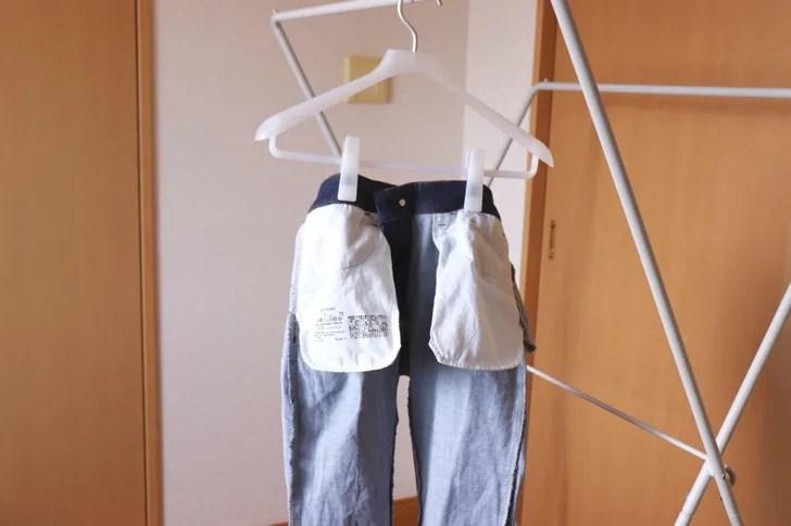 洗濯物の干し方の写真