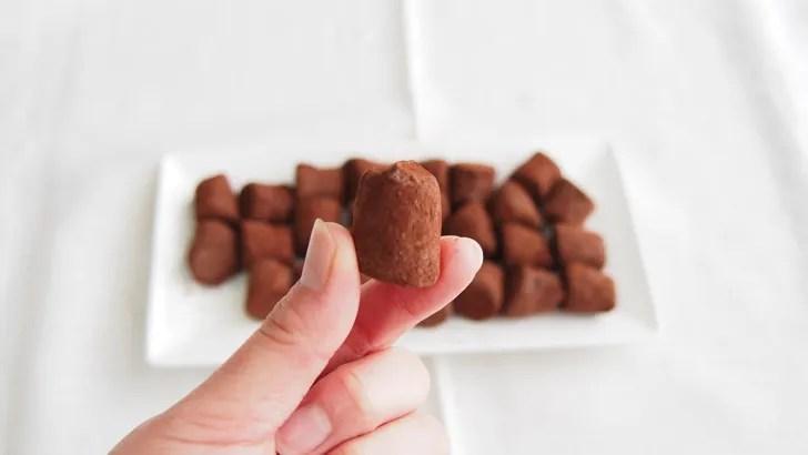 コストコのマセズ フレンチ プレーン トリュフ(トリュフチョコレートの大きさ)