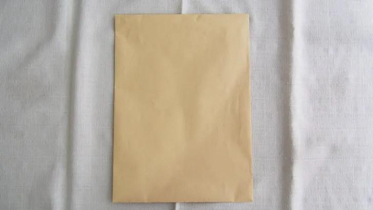 A4サイズの封筒に貼る切手の料金(封筒の現物)