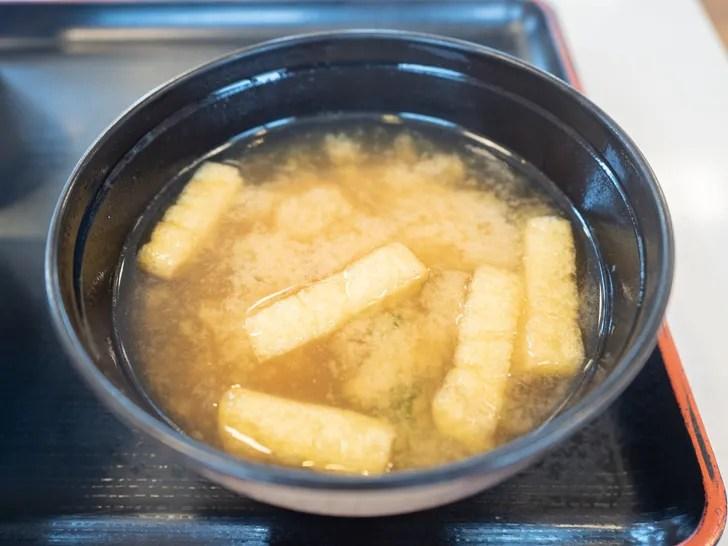 無料で付く松屋の味噌汁