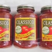 コストコのクラシコ パスタソース トマト&バジル(907g×3本セット)