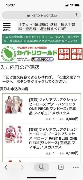 【カイトリワールド】入力内容の確認
