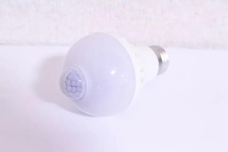 自動点灯の電球
