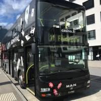 リヒテンシュタインへの行き方 サルガンス駅の11番バス