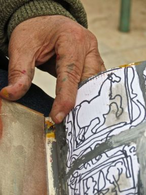painter's hands