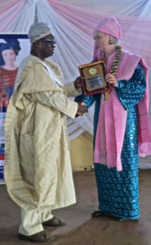 Left: Omo-Oba Sam A. Ogundogba (Labiromi Junior) Sahirman Baord of Trustee, O.C.D.C.