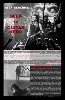 Design and promotional material for Alex Skolnick's book