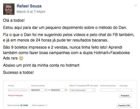 Novo depoimento do Rafael