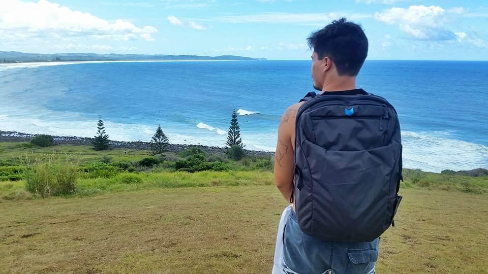 Com minha nova mochila de nômade digital Minaal