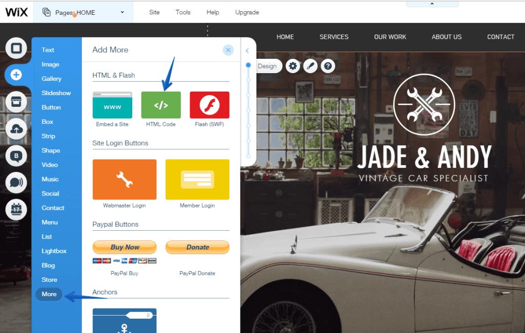 Integração Jivochat e Wix