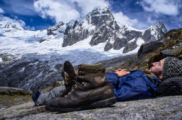 Edwin chilling out on the Santa Cruz trek in Peru