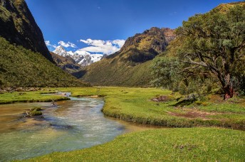 Beautiful view at the Santa Cruz trek in Peru